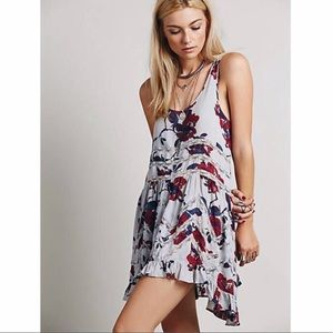 Intimately Free People Floral Voile Trapeze Slip